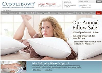 Cuddledown.com welcome